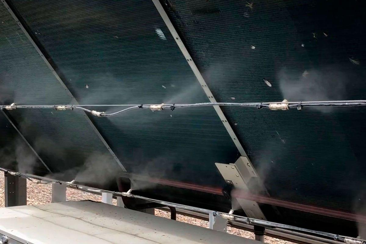 Smartmist® unique dual action HVAC Misting cools by evaporation.